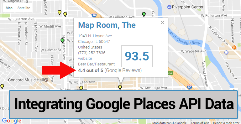 Adding Google Places info